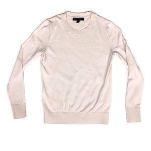 Ann Taylor Blouse Long Sleeve Pale Pink XSP
